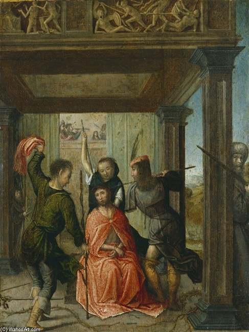 Juan De Flandes >> Christ Crowned with Thorns  |  (, artwork, reproduction, copy, painting).