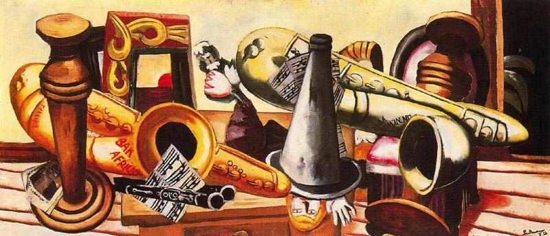 Max Beckmann - Large Still Life with Musical Instruments