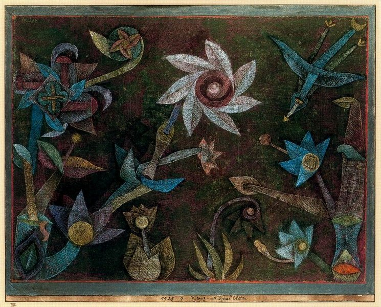 Paul Klee - Crucifers und Spiral Flowers