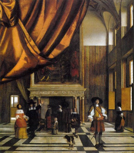 Pieter de Hooch - The Council Chamber in Amsterdam Town Hall