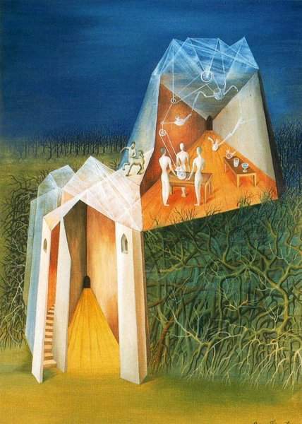 Remedios Varo - Centaur tower Landscape