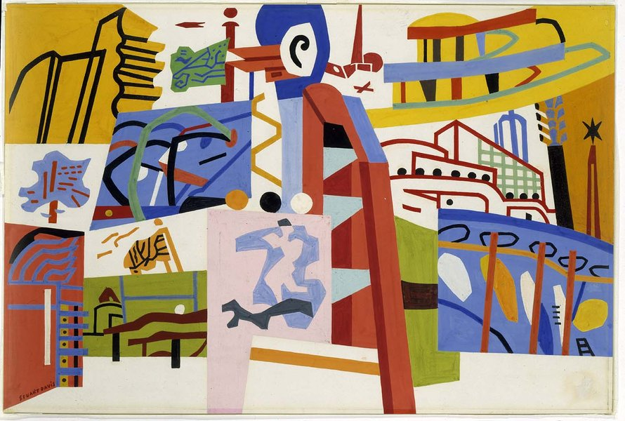 Stuart Davis >> Impression of the New York World's Fair  |  (, artwork, reproduction, copy, painting).
