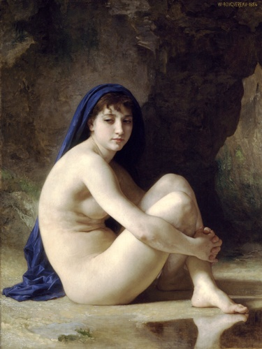 Crouching Bather by William Adolphe Bouguereau (1825-1905, France) | WahooArt.com