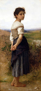 William Adolphe Bouguereau - The Young Shepherdess