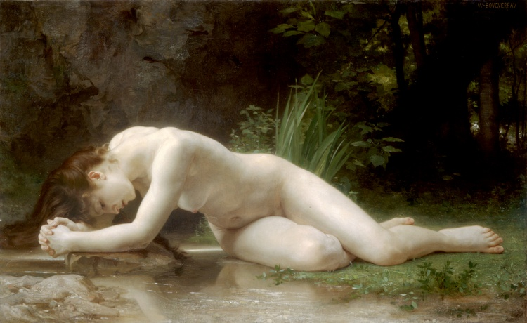 Biblis, Oil by William Adolphe Bouguereau (1825-1905, France)
