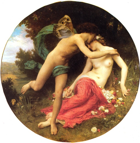 Cupid and Psyche by William Adolphe Bouguereau (1825-1905, France) | WahooArt.com