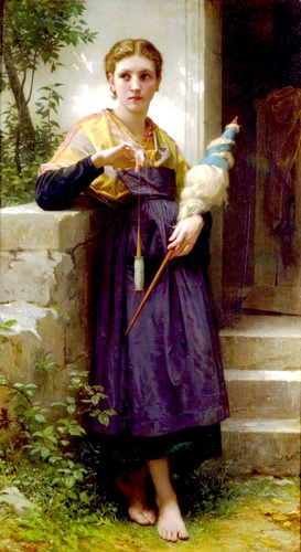 Fileuse by William Adolphe Bouguereau (1825-1905, France) | WahooArt.com