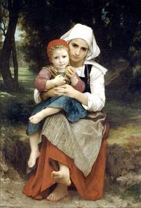 William Adolphe Bouguereau - Breton Brother and Sister