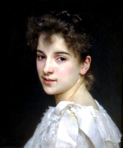 Gabrielle Cot 1890, Oil by William Adolphe Bouguereau (1825-1905, France)