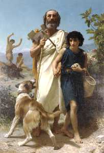 William Adolphe Bouguereau - Homer and his guide
