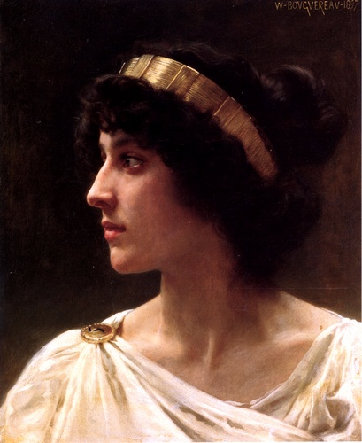 Irene, Oil by William Adolphe Bouguereau (1825-1905, France)