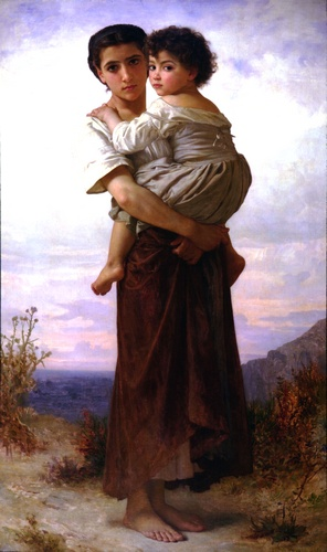 Young gypsy, Oil by William Adolphe Bouguereau (1825-1905, France)
