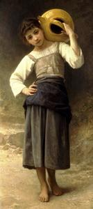 William Adolphe Bouguereau - A girl from the fountain