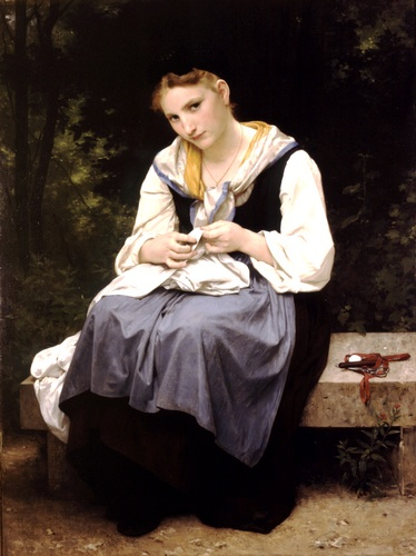 Young worker, Oil by William Adolphe Bouguereau (1825-1905, France)