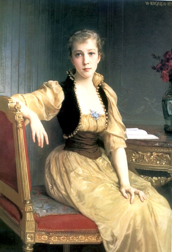 Lady Maxwell 1890 129.2x89.2cm by William Adolphe Bouguereau (1825-1905, France) | Art Reproduction | WahooArt.com