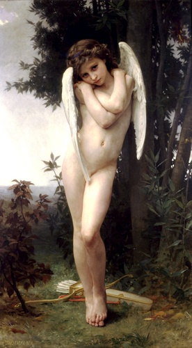 Lamour wet, Oil by William Adolphe Bouguereau (1825-1905, France)