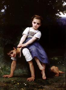 William Adolphe Bouguereau - La bourrique oil on canvas