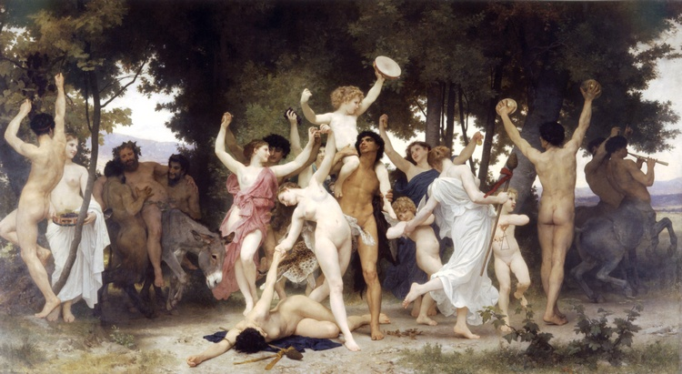 Youth of Bacchus, Oil by William Adolphe Bouguereau (1825-1905, France)