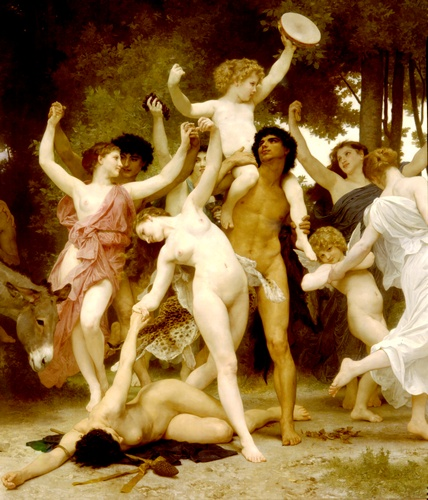 Youth center Bacchus dt by William Adolphe Bouguereau (1825-1905, France) | WahooArt.com
