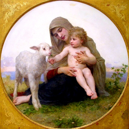 The Virgin Lagneau, Oil by William Adolphe Bouguereau (1825-1905, France)