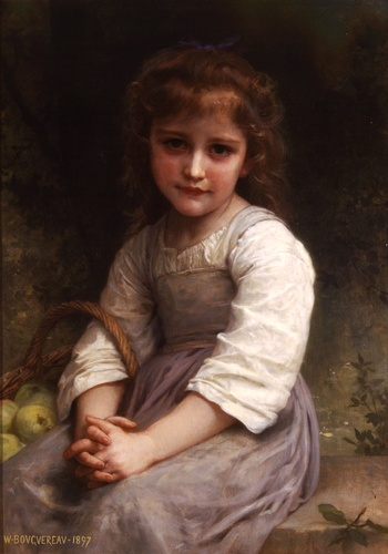 Apples, Oil by William Adolphe Bouguereau (1825-1905, France)