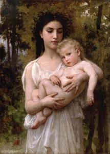 William Adolphe Bouguereau - The younger brother 1900