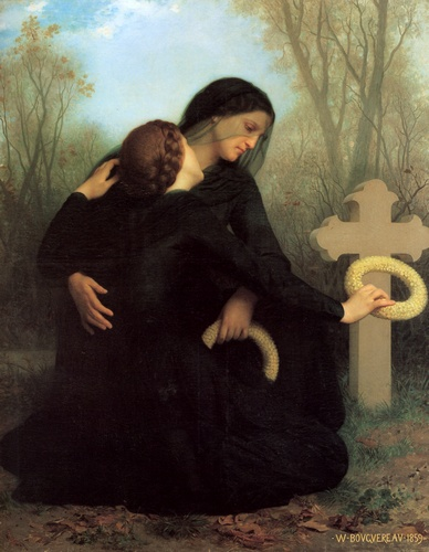Day of the Dead, Oil by William Adolphe Bouguereau (1825-1905, France)