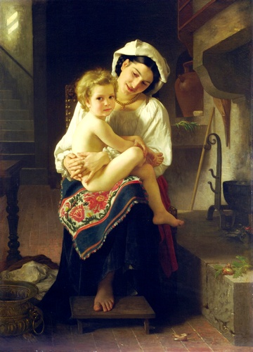 The Lever by William Adolphe Bouguereau (1825-1905, France) | Art Reproduction | WahooArt.com