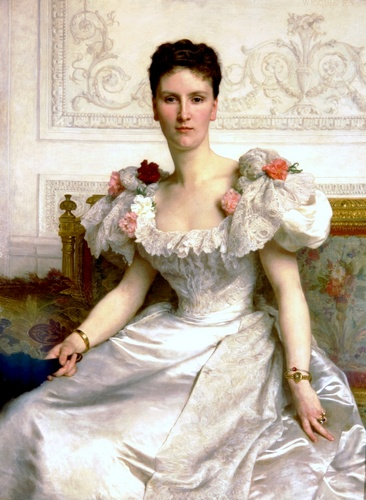 Madame la Comtesse de Cambaceres, Oil by William Adolphe Bouguereau (1825-1905, France)