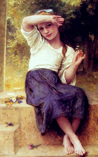 Marguerite, Oil by William Adolphe Bouguereau (1825-1905, France)