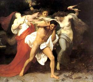 William Adolphe Bouguereau - Orestes Pursued by the Furies