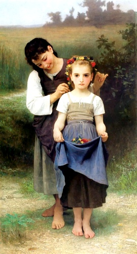 Order Museum Quality Reproductions : Parure fields by William Adolphe Bouguereau (1825-1905, France) | WahooArt.com