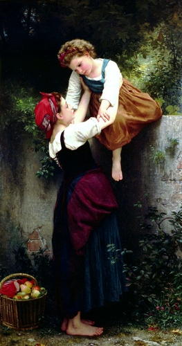 Small marauding, Oil by William Adolphe Bouguereau (1825-1905, France)