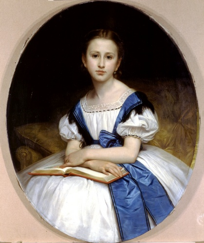 Portrait of Miss Brissac by William Adolphe Bouguereau (1825-1905, France) | Oil Painting | WahooArt.com