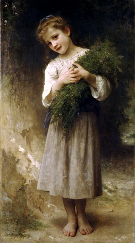 Back from the fields by William Adolphe Bouguereau (1825-1905, France) | Museum Quality Reproductions | WahooArt.com