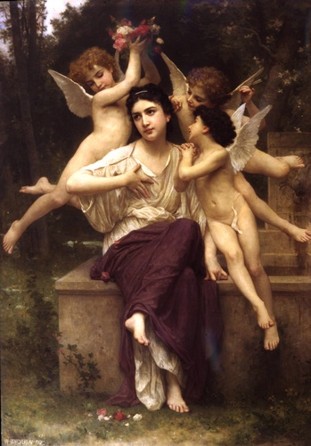 Spring Dream, Oil by William Adolphe Bouguereau (1825-1905, France)