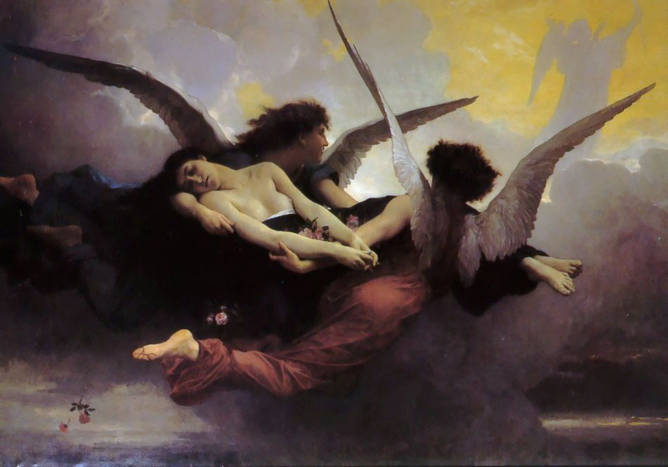Soul Carried to Heaven, Oil by William Adolphe Bouguereau (1825-1905, France)