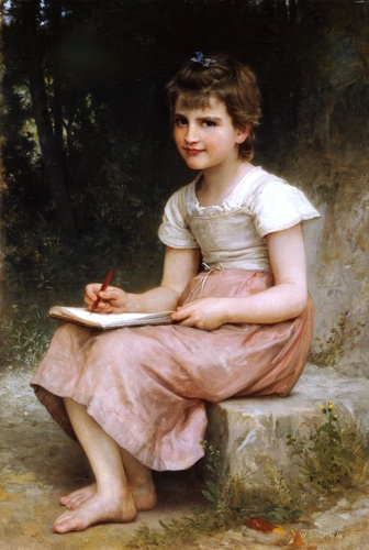 Vocation 1896, Oil by William Adolphe Bouguereau (1825-1905, France)