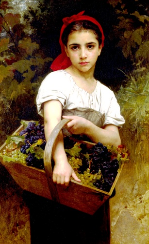 Harvester, Oil by William Adolphe Bouguereau (1825-1905, France)