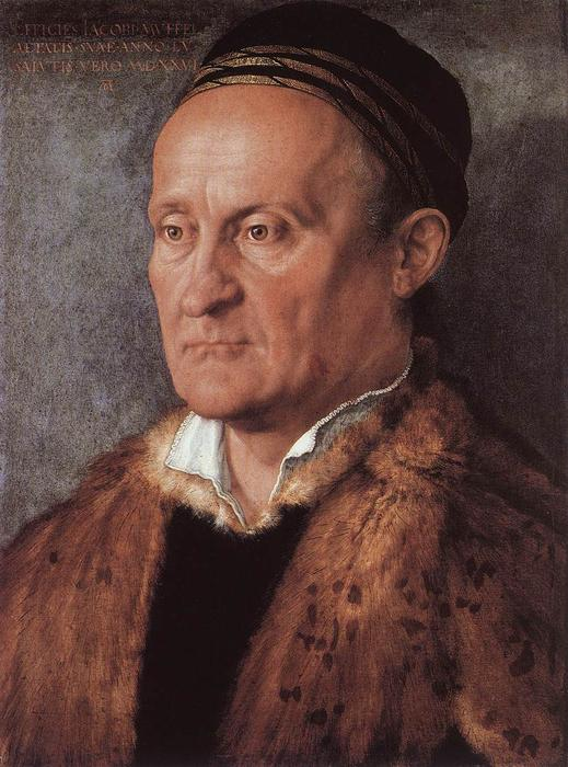 Portrait of Jakob Muffel, Oil On Canvas by Albrecht Durer (1471-1528, Italy)