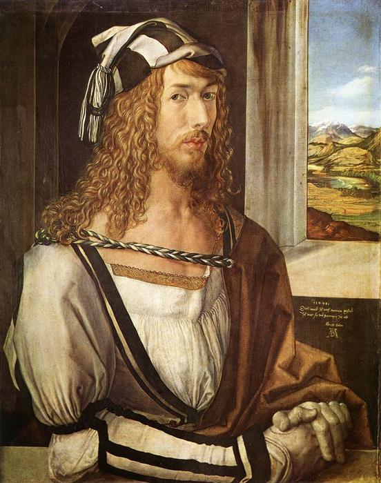 Self-Portrait at 26, Oil On Panel by Albrecht Durer (1471-1528, Italy)