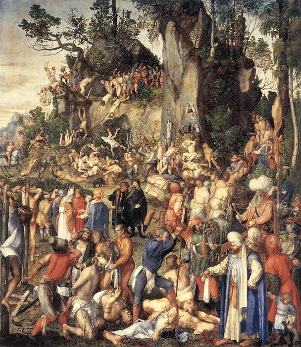 The Martyrdom of the Ten Thousand, 1508 by Albrecht Durer (1471-1528, Italy) | Famous Paintings Reproductions | WahooArt.com