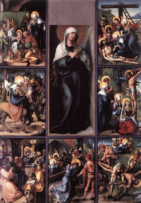 The Seven Sorrows of the Virgin, Oil On Panel by Albrecht Durer (1471-1528, Italy)