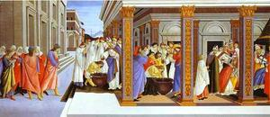 Sandro Botticelli - Baptism of St. Zenobius and his Appointment as Bishop