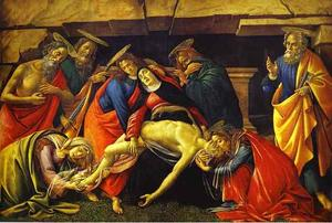 Sandro Botticelli - Lamentation over the Dead Christ with the Saints Jerome, Paul and Peter