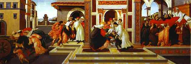 Order Art Reproduction : Last Miracle and the Death of St. Zenobius, 1500 by Sandro Botticelli (1445-1510, Italy) | WahooArt.com