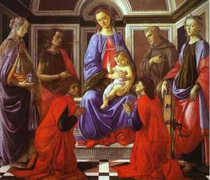 Sandro Botticelli - Madonna and Child with Six Saints