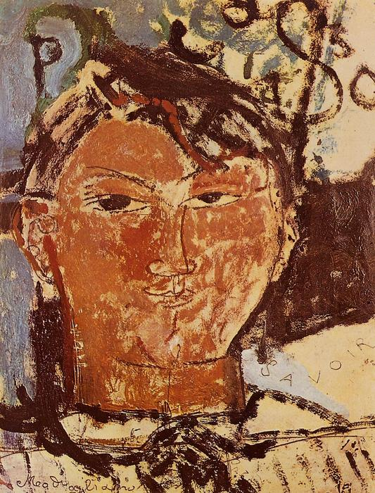 Portrait of Pablo Picasso, 1915 by Amedeo Modigliani (1884-1920, Italy) | WahooArt.com