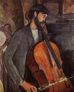 Amedeo Modigliani - Study for The Cellist