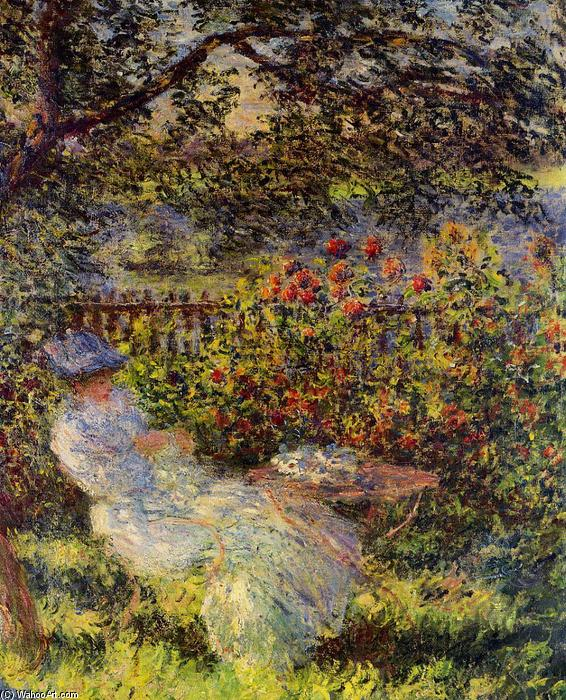 Alice Hoschede in the Garden, 1881 by Claude Monet (1840-1926, France)